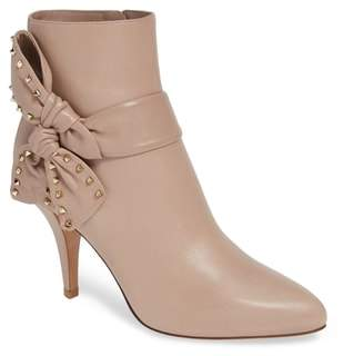 Valentino Studded Bow Ankle Bootie