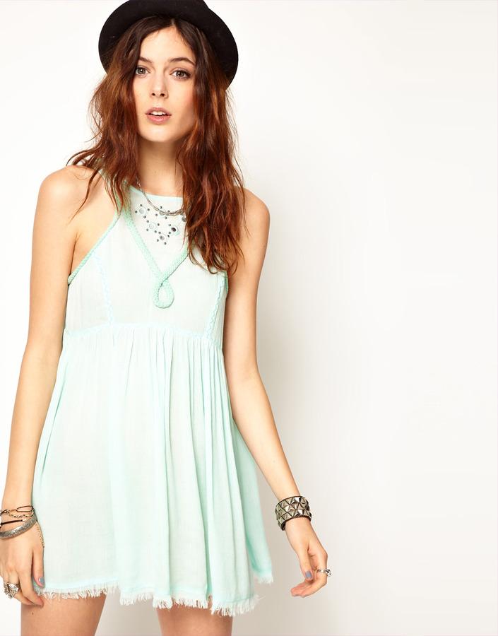 Somedays Lovin Dreamlover Babydoll Dress With Mirror Embellishment
