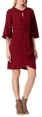 Tahari Arthur S. Levine Petite Keyhole Crepe Shift Dress