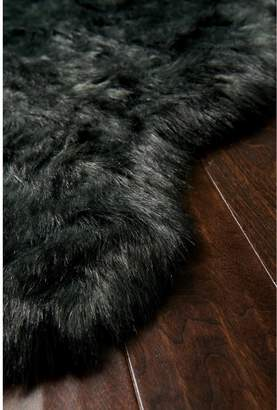 Lulu & Georgia Felice Faux Sheepskin Rug, Black