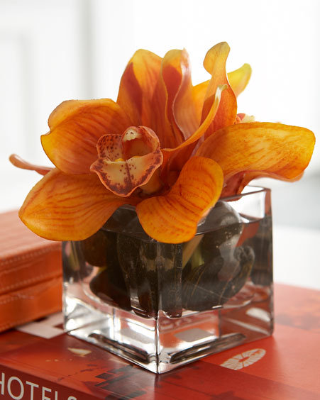 Petite Orange Orchid Bouquet