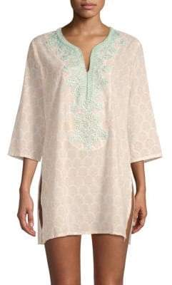 Roller Rabbit Neapolitan Archipelago Rosemary Embroidered Tunic
