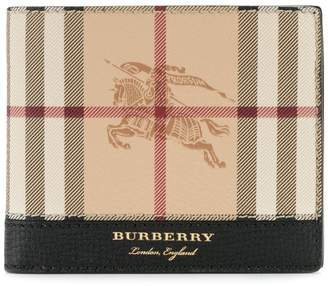 Burberry heymarket check wallet
