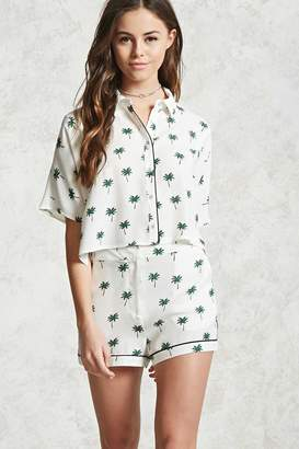 FOREVER 21+ Palm Print Woven Shorts $17.90 thestylecure.com