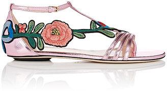 Gucci Women's Ophelia Leather T-Strap Sandals $695 thestylecure.com