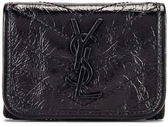 Saint Laurent Niki Credit Card Wallet in Black | FWRD