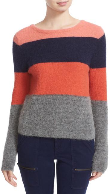 EquipmentEquipment Calais Stripe V-Back Sweater