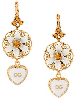 Dolce & Gabbana heart dropped earrings