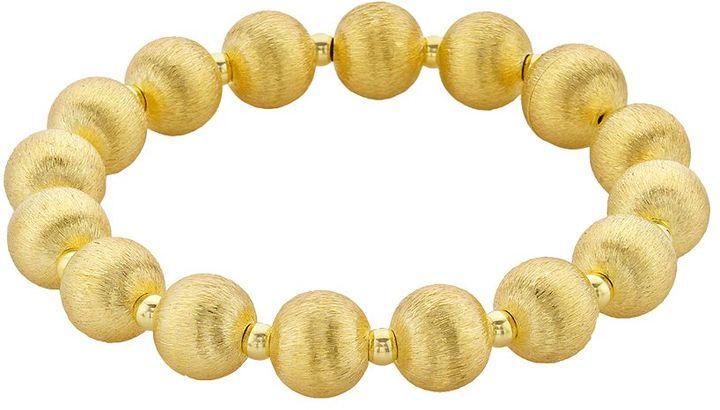 18k Gold-Over-Silver Beaded Bracelet