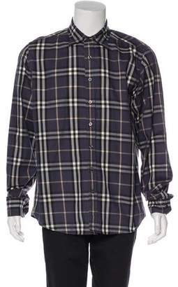 Burberry Nova Check Print Button-Up Shirt