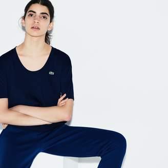 Lacoste Women's SPORT U-neck Flowing Jersey Tennis T-shirt