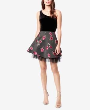 Betsey Johnson One-Shoulder Fit & Flare Dress