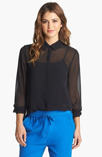 Kenneth Cole New York 'Farika' Side Zip Blouse