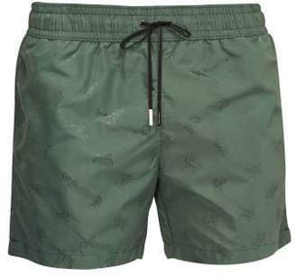 Bottega Veneta Butterfly Jacquard Swim Shorts - Mens - Green