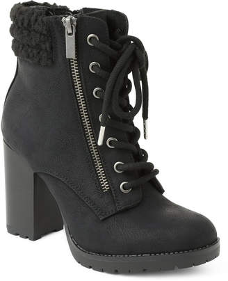 XOXO Jeanna Lace up Booties Women Shoes