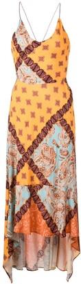 Esteban Cortazar asymmetric paisley print dress
