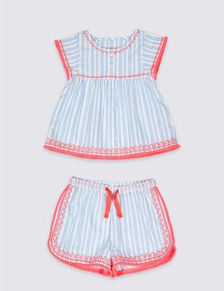 Marks and Spencer Pure Cotton Short Pyjamas (1-7 Years)