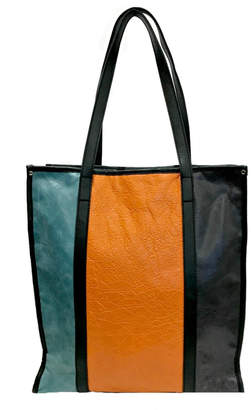 Leather Country Colorblock Leather Tote