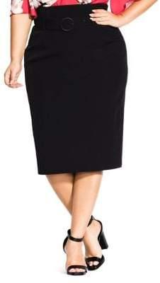 City Chic Plus Corset Waist Pencil Skirt