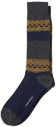 Banana Republic Andre Geo Stripe Wool-Blend Sock