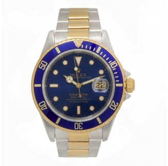 Rolex Submariner 16613 Two Tone Oyster Bracelet Blue Dial Automatic 40mm Mens Watch $13,400 thestylecure.com