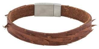Tateossian Brown Leather Bracelet