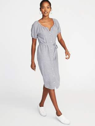 Old Navy Striped Tie-Belt Shirt Dress for Women