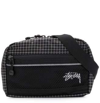 Stussy checked belt bag