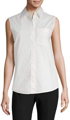 Alexander Wang Women's Wrap-Back Sleeveless Poplin Blouse