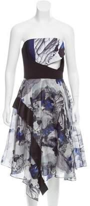 Prabal Gurung Printed Strapless Dress