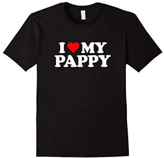 I Love My Pappy T Shirt - Heart Funny Fun Gift Tee