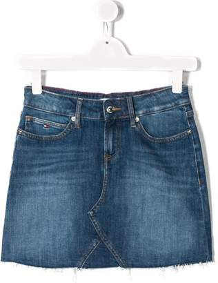 Tommy Hilfiger Junior TEEN frayed denim skirt
