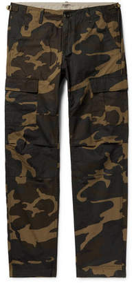 Carhartt Wip WIP - Aviation Slim-fit Camouflage-print Cotton-ripstop Cargo Trousers - Army green