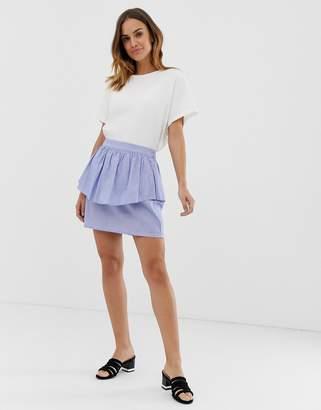 Naf Naf layered mini skirt