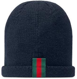 Gucci Baby knitted hat with Web