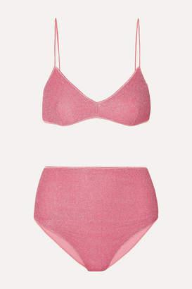 Oseree Lumière Stretch-lurex Bikini - Pink