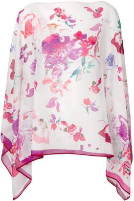 Ungaro floral print handkerchief hem top