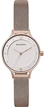 Skagen Women's Anita Quartz Stainless Steel Mesh Casual Watch
