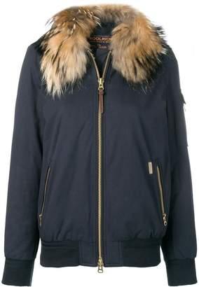 Woolrich fur collar padded jacket
