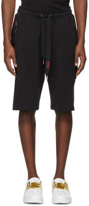 Dolce & Gabbana Black Side Applique Sweat Shorts