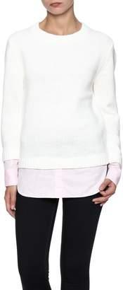 ENGLISH FACTORY Layered Knit Sweater
