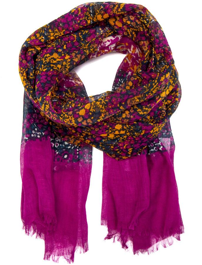 Flowery print scarf