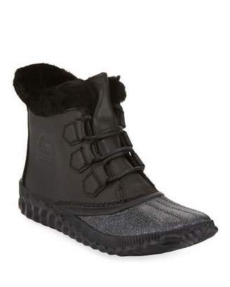 Sorel Out-N-About Plus Lux Waterproof Duck Boots with Glitter