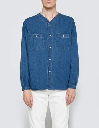 orSlow No Collar Work Shirt