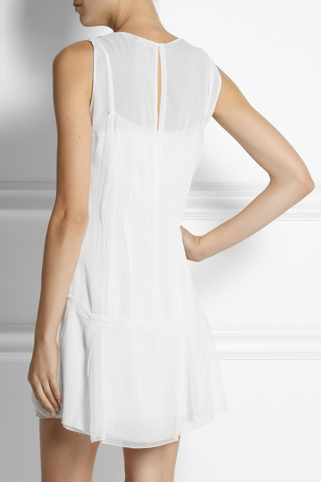 Vanessa Bruno Anemone gauze and silk-georgette mini dress