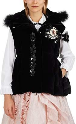 Simone Rocha 4 MONCLER Women's Gemma Embellished Velvet Vest