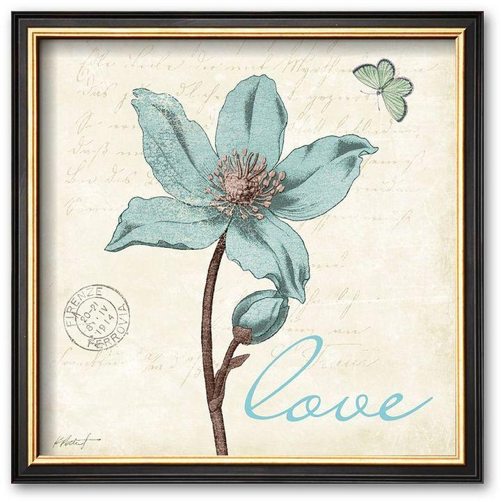 "Art.com ""Touch of Blue IV (Love)"" Framed Art Print by Katie Pertiet"