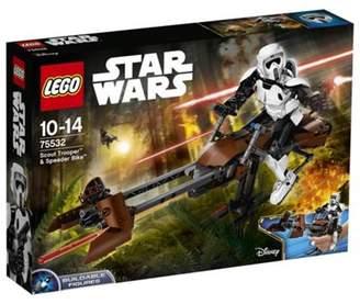 Star Wars Lego Scout Trooper & Speeder Bike 75532 Buildable Figure