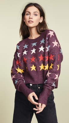 Wildfox Couture Rainbow Stars Elektra Sweater