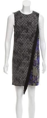 Rebecca Taylor Fringe-Accented Silk Dress